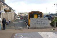 Platform 4 is outside the train shed at Penzance and, on the quiet Sunday morning of 22 April 2012, has a pair of First Great Western Class 150 units stabled awaiting their next tour of duty.<br><br>[John McIntyre&nbsp;22/04/2012]