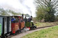 Great fun! Scene on the narrow gauge Statfold Barn Railway on 31 March 2012.<br><br>[Peter Todd&nbsp;31/03/2012]