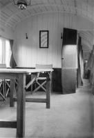 Interior of the camping coach at East Anstey in August 1952 [see image 38559]. A touch on the Spartan side perhaps?<br><br>[John Thorn&nbsp;/08/1952]