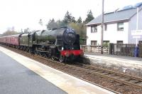 46115 <I>Scots Guardsman</I> photographed at Blair Atholl on 24 April with the <I>'The Great Britain V'</I> railtour.<br><br>[Jim Peebles&nbsp;24/04/2012]