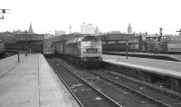Brush Type 4 no.1968 about to depart from platform 4 at Aberdeen with an east coast service on 26 May 1973.<br><br>[John McIntyre&nbsp;26/05/1973]