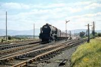 Rebuilt 'Patriot' no 45514 <I>Holyhead</I> photographed calling at Symington with a down train on a fine summer Saturday in August 1959.<br><br>[A Snapper (Courtesy Bruce McCartney)&nbsp;29/08/1959]