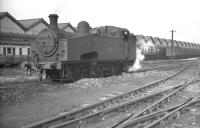 Gresley class J51 0-6-0T no 68911 on Copley Hill shed in September 1960, less than 2 months before withdrawal.<br><br>[K A Gray 24/09/1960]