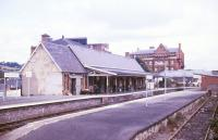 View over the station at Newtown, Powys, in 1987.<br><br>[Ian Dinmore&nbsp;//1987]