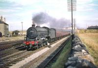 St Margarets B1 4-6-0 no 61308 takes the down <I>North Briton</I> west on the Edinburgh & Glasgow main line through Saughton Junction on Monday 28 September 1959.<br><br>[A Snapper (Courtesy Bruce McCartney)&nbsp;28/09/1959]