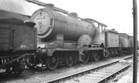 Class D15 4-4-0 no 62580 photographed near the end of its operational life at Stratford in the late 1950s. Despite the message on the smokebox door the locomotive is recorded as being cut up here in July 1958.<br><br>[K A Gray&nbsp;//]
