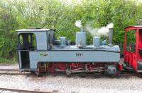Henschel 0-8-0 no 1091 running on the narrow gauge setup at Winchcombe on 6 May 2012. <br><br>[Peter Todd&nbsp;06/05/2012]