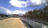 Scene just prior to the opening of the 'Clyde Gateway' (Glasgow's East End Regeneration Route). The road is where the embankment that carried the Switchback line into London Road Goods yard once stood. A little of what was left is seen on the right of the picture<br><br>[Colin Harkins&nbsp;22/04/2012]