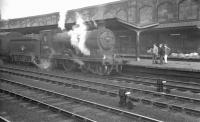 D34 4-4-0 no 62484 <I>Glen Lyon</I> at Carlisle on Saturday 1 July 1961 with the 12.25pm from Hawick.<br><br>[K A Gray&nbsp;01/07/1961]