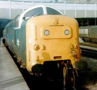 Deltic 55003 <I>Meld</I> waits at the east end of Waverley in March 1980.<br><br>[Colin Alexander&nbsp;/03/1980]