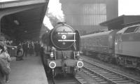 On 6 October 1966 BR Scottish Region arranged the <I>'Blue Peter Excursion'</I> between Edinburgh and Carlisle. The special ran south via the Waverley route, returning home via Carstairs. 60532 is seen here with the train at Carlisle. [See image 46582]<br><br>[K A Gray&nbsp;06/10/1966]