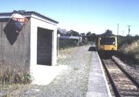 <I>'To let - small holiday cotage - would suit railway enthusiast...' </I> scene at Luxulyan station on the Newquay branch in August 1989 with a DMU from Par arriving at the platfform.<br><br>[Ian Dinmore&nbsp;/08/1989]