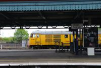 31105 on a departmental working in Didcot sidings on 17 May 2012.<br><br>[Peter Todd 17/05/2012]