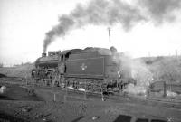B1 no 61278 on Kingmoor shed turntable on 3 December 1966 during a break from hauling the <I>'Last B1 Excursion'</I> which had recently arrived from Edinburgh.<br><br>[Robin Barbour Collection (Courtesy Bruce McCartney)&nbsp;03/12/1966]