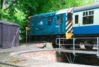 08850 stabled on the turntable road at NYMR Pickering in June 2011.<br><br>[John Furnevel&nbsp;30/06/2011]