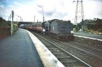 A K3 2-6-0 runs south through Joppa station in August 1957.<br><br>[A Snapper (Courtesy Bruce McCartney)&nbsp;24/08/1957]