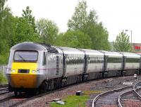 The up <I>'Highland Chieftain'</I> photographed approaching Stirling on 17 May during monsoon conditions.<br><br>[Colin Miller&nbsp;17/05/2012]