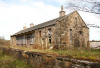 The surviving station building on the down platform at Grantown-on-Spey East, seen here on 21 May 2012. For a photograph taken from a similar viewpoint some forty four years earlier [see image 26143]. <br><br>[John Furnevel&nbsp;21/05/2012]