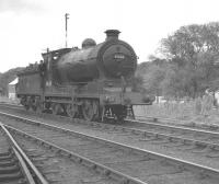 Scene at Jedburgh on 9 July 1961 with St Margarets J37 0-6-0 no 64624 running round the RCTS (West Riding Branch) <I>'Borders Railtour'</I>.<br><br>[K A Gray&nbsp;09/07/1961]