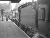 Fowler 2P no 40646, double heading with 'Schools' class no 30925 <I>Cheltenham</I> preparing to leave Nottingham Victoria on 13 May 1962 with the 9-coach RCTS <I>East Midlander No 5</I> rail tour.<br><br>[K A Gray&nbsp;13/05/1962]