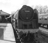 BR 9F 2-10-0 no 92240 at Horsted Keynes on the Bluebell Railway in April 2012.<br><br>[Colin Alexander&nbsp;12/04/2012]