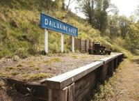 The former Dailuaine Halt on the Speyside line seen in May 2012 looking towards Carron. Located some two and a half miles south west of Aberlour and a short distance from Diageo's large Dailuaine distillery, the former halt has benefitted from some welcome repair and refurbishment work in recent years [see image 20003].<br><br>[John Furnevel&nbsp;24/05/2012]