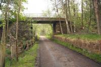 Platform remains at Advie in May 2012. View north east towards Craigellachie.<br><br>[John Furnevel&nbsp;25/05/2012]