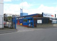 The Charles Street entrance to Railcare's St Rollox Works, Springburn, in June 2012.<br><br>[Veronica Clibbery&nbsp;01/06/2012]