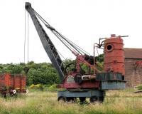 Whitaker Brothers rail-mounted steam crane no 130 photographed in the grounds of Prestongrange Industrial Heritage Museum, East Lothian, in 2005.  <br><br>[John Furnevel&nbsp;07/07/2005]