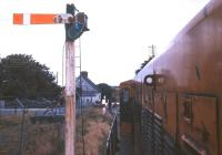 Hold up at Fartamore level crossing near Tuam, County Galway, in 1988.<br><br>[Ian Dinmore&nbsp;//1988]