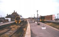 General view over the platforms at Cleethorpes station in August 1995.<br><br>[Ian Dinmore&nbsp;/08/1995]