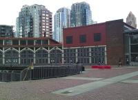 The original CPR Drake Street roundhouse, Vancouver, in May 2012.  The photograph shows part of the main building with the turntable still intact in the centre.<br><br>[Malcolm Chattwood&nbsp;07/05/2012]
