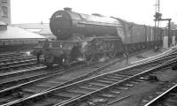 V2 no 60800 <I>'Green Arrow'</I> passing Newcastle Central on the goods lines in the 1960s with a down freight.<br><br>[K A Gray&nbsp;//]