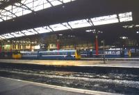Regional Railways 'Pacers' at Manchester Victoria in September 1990.<br><br>[Ian Dinmore&nbsp;02/09/1990]