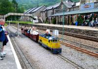 The miniature railway adjacent to Betws-y-Coed Station in June 2012. [See image 24137]<br><br>[Peter Todd&nbsp;/06/2012]