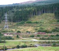 EWS 66009 climbing Beattock Bank at Greskine in September 2007 with an engineer's train.<br><br>[John Furnevel&nbsp;12/09/2007]