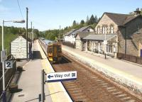 The 10.35 Edinburgh - Inverness service restarts following the stop at Blair Atholl on 28 May 2012.<br><br>[John Furnevel&nbsp;28/05/2012]