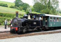 No 822 <I>The Earl</I> stands at the platform at Llanfair Caereinion in June 2012. <br><br>[Peter Todd&nbsp;14/06/2012]