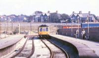 A DMU at Heysham Port in September 1987. For the same scene 25 years later [see image 39281].<br><br>[Ian Dinmore&nbsp;/09/1987]