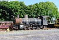 Requires some attention. A derelict 2-8-2 in the sidings at Dinas on the Welsh Highland Railway in June 2012.<br><br>[Peter Todd&nbsp;14/06/2012]
