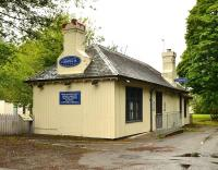 The old station building at Dornoch has been repainted and is now being used as a chiropractic clinic. Photographed in June 2012. [See image 13736]<br><br>[John Gray&nbsp;/06/2012]