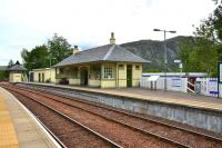 The scaffolding of last year has all now gone from Glenfinnan Station leaving it looking neat and tidy. The work involved the refurbishment of the listed station building and signal box including the removal and reinstallation of their slate roofs.<br><br>[John Gray&nbsp;/06/2012]