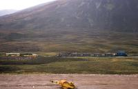 Clear signs of road and rail upgrading activity near Druimuachdar Summit in 1977. <br><br>[Frank Spaven Collection (Courtesy David Spaven)&nbsp;//1977]
