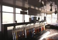 Interior of Keith Junction signal box, August 1987.<br><br>[Ian Dinmore&nbsp;/08/1987]