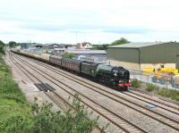 Photographed running into the loop at Challow Station at 0900 on 26 June 2012. A1 Pacific no 60163 'Tornado' is heading for Canterbury with the <I>Cathedrals Express</I>.<br><br>[Peter Todd&nbsp;26/06/2012]