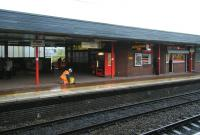 Station maintenance, Wigan North Western, 12 June 2012.<br><br>[Veronica Clibbery&nbsp;12/06/2012]