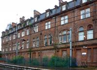 The less-prepossessing rear of the Station Hotel, Ayr, in June 2012. All bricked-up on Platform 3 of the station and with mini-trees growing on the stonework. [See image 39329] for the front view. <br> <br><br>[Colin Miller&nbsp;28/06/2012]