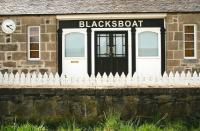 Old station building at Blacksboat, photographed from the trackbed on 24 May 2012.<br><br>[John Furnevel&nbsp;24/05/2012]