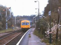 A DMU for Norwich arrives at Brundall in August 1992.<br><br>[Ian Dinmore&nbsp;/08/1992]