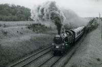 RCTS/SLS RAIL TOUR OF SCOTLAND 21st June 1962<br><br> 80129 near Kilmacolm heading to Greenock Princes Pier.<br><br>[Jim Currie (Courtesy Stephenson Locomotive Society)&nbsp;21/06/1962]